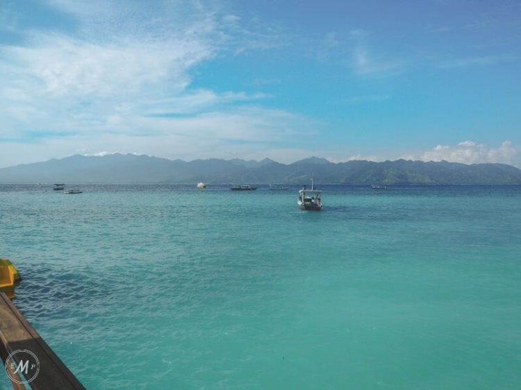 Travel Itinerary for a day trip to Lombok - Looking out onto Lombok from Gili Trawangan