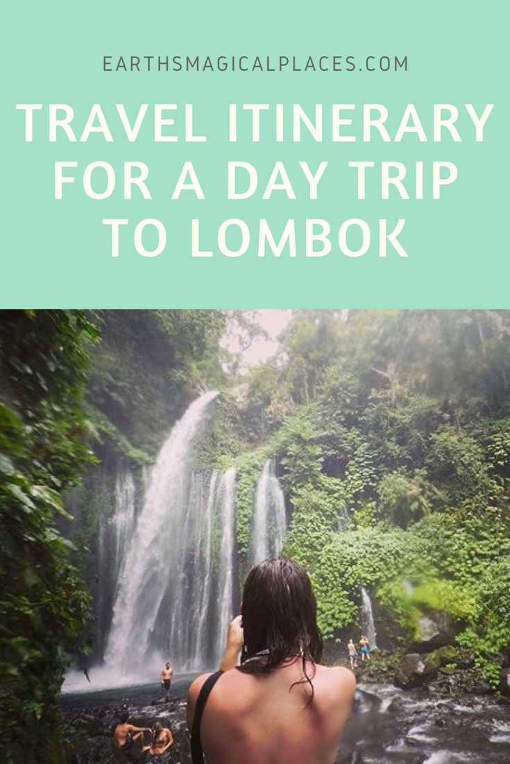 Travel Itinerary for a day trip to Lombok - A detailed post all about the best things to do on the Island of Lombok Indonesia on a day trip. From pink beaches and volcano's to waterfalls and jungle hikes. A list off the best things Balis counterpart can offer you