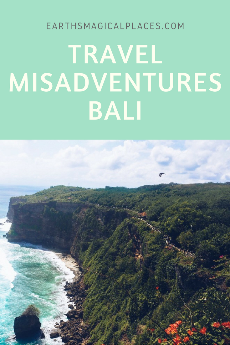 Travel Misadventures: Bali Indonesia - Ever experienced a mishap on a vacation or during your travel adventures? Me too. This humorous article shares my stories for my time in Bali. You can expect beaches in Sanur, temples, the Gili Islands and monkeys. Enjoy :)